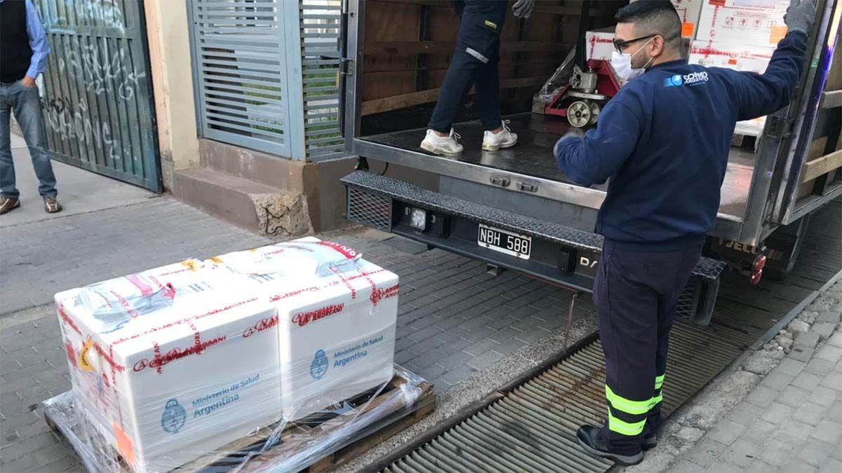 Llegaron a Mendoza casi 9 mil dosis de vacunas Sputnik V