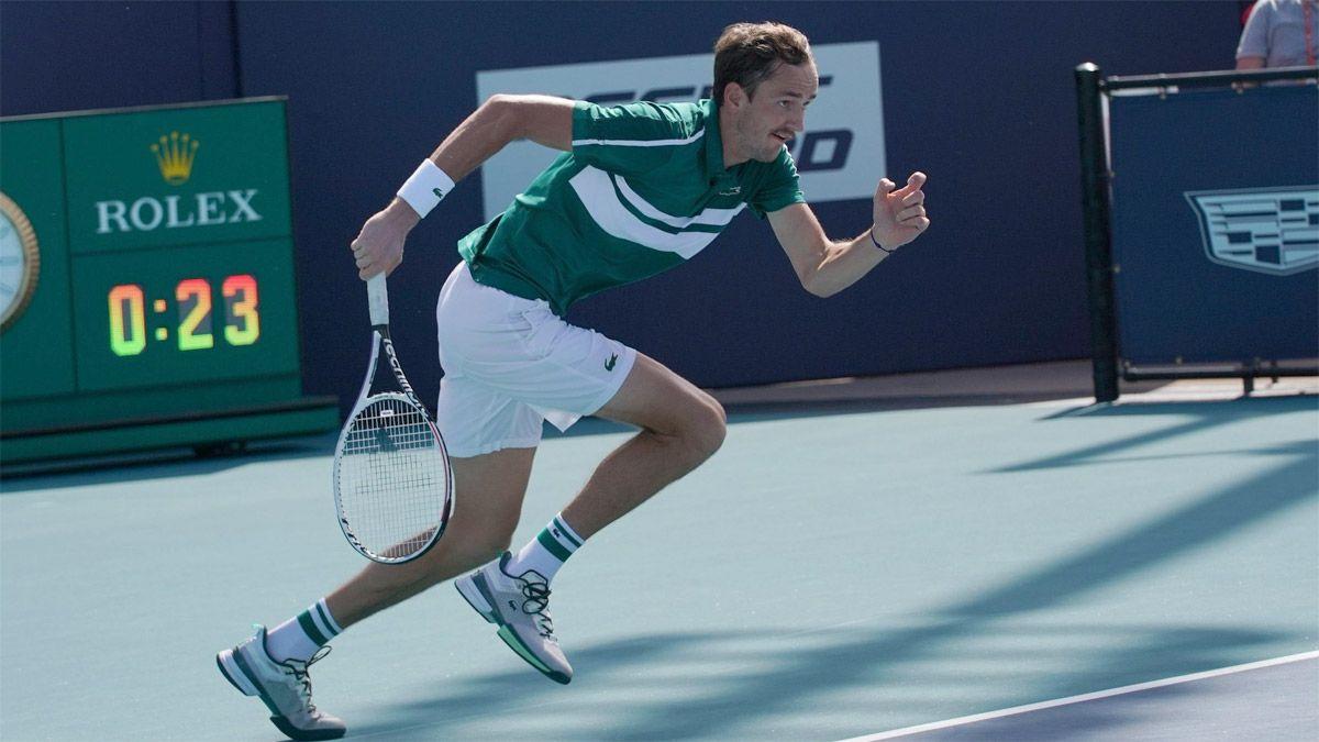 Inesperada despedida del ruso Medvedev del Masters de Miami