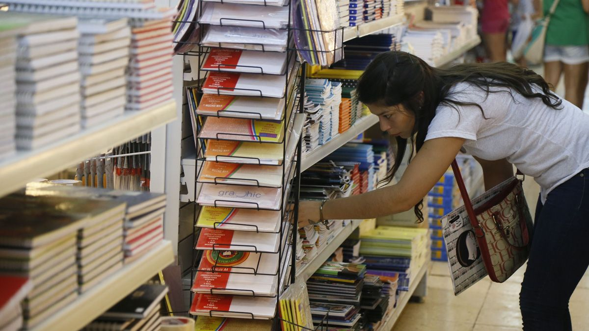 Aumentos. La canasta escolar impactará con sus precios en la inflación.