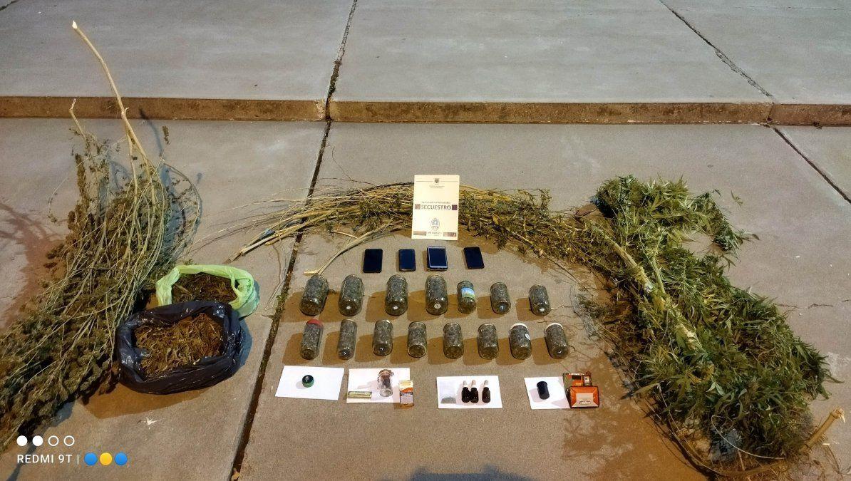 Encontraron marihuana en una casa del Valle de Uco y detuvieron a una profesora de Lengua